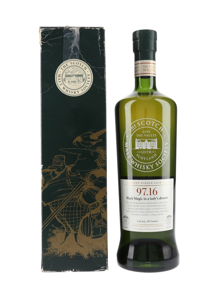SMWS 97.16 Black Magic in a Lady's Drawer Littlemill 18 Year Old 70cl / 56.4%