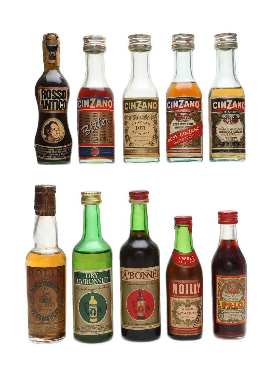 Assorted Vermouth Incl. Cinzano & Noilly 10 x 5cl & 10cl
