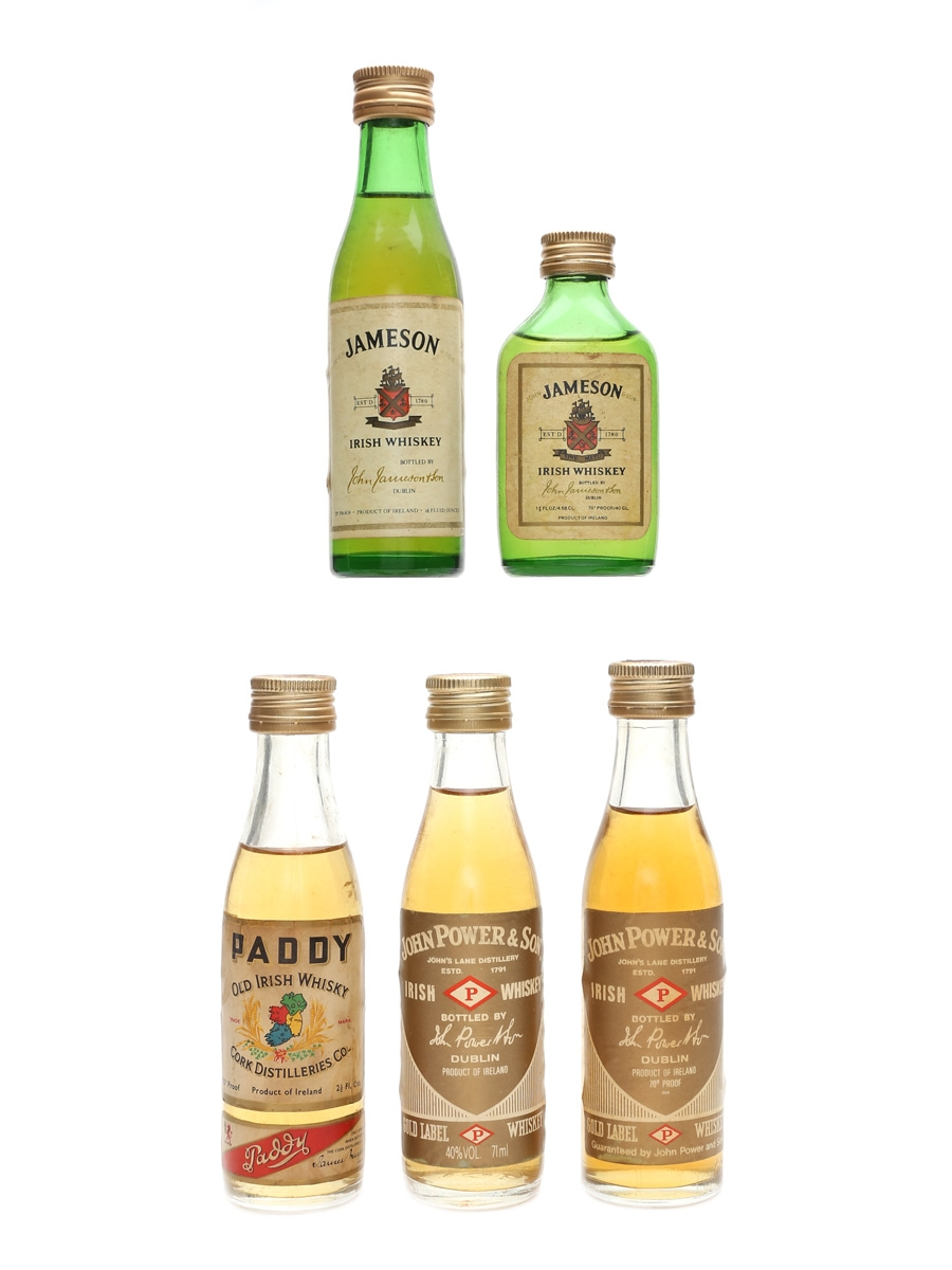 Assorted Irish Whiskey Incl. Jameson and John Power & Sons 5 x 5cl & 10cl