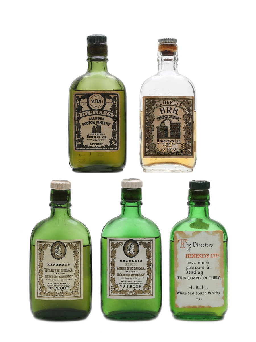 Assorted Henekeys Scotch Whisky  5 x 6cl