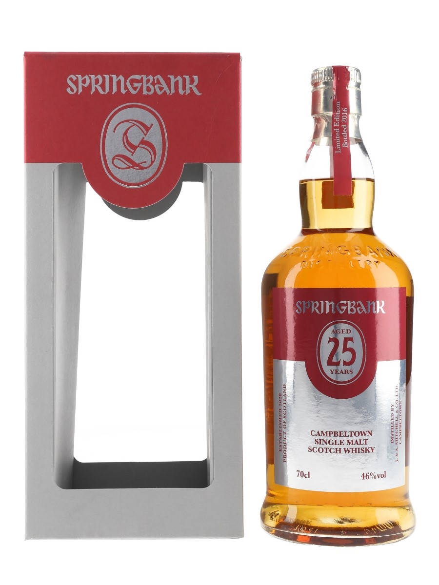 Springbank 25 Year Old Bottled 2016 70cl / 46%