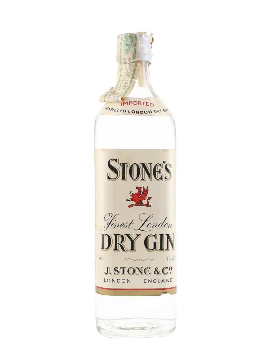 Stone's London Dry Gin Bottled 1970s 75cl / 43%