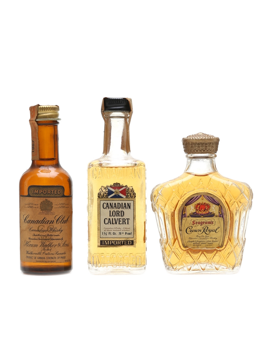 Assorted Canadian Whisky Incl. Canadian Club 1967 3 x 5cl