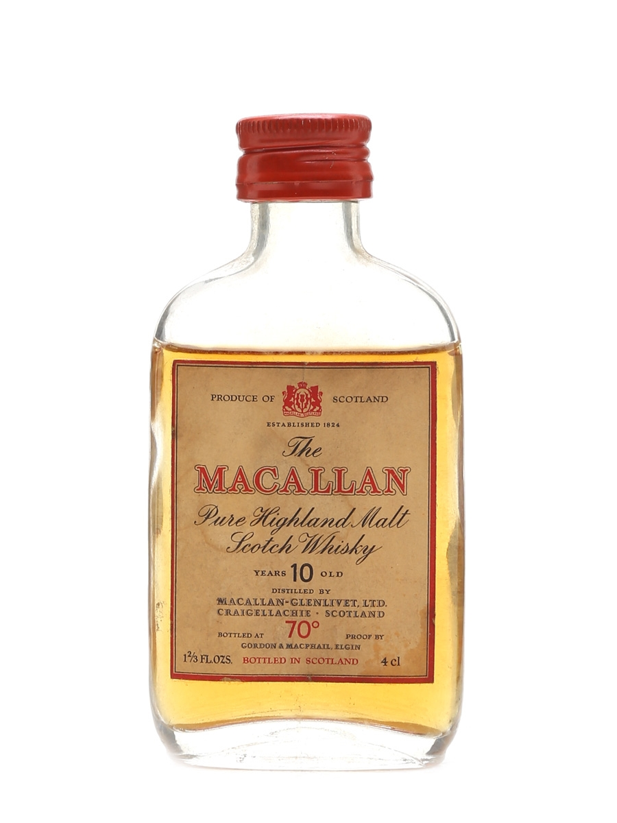 Macallan 10 Year Old 70 Proof Bottled 1980s 4cl