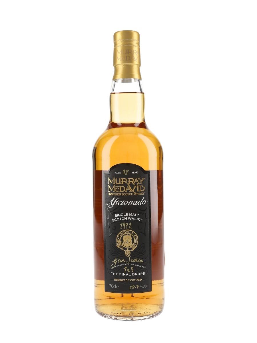 Glen Scotia 1992 18 Year Old Aficionado Bottle Number 1 of 3 70cl / 58.7%
