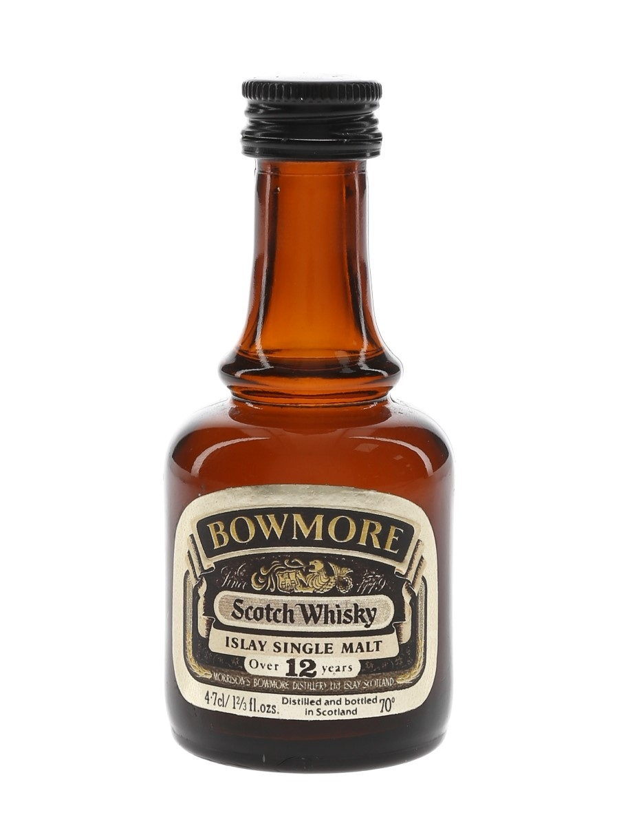 Bowmore 12 Year Old Bottled 1970s 4.7cl / 40%