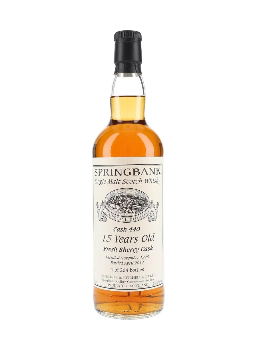 Springbank 1998 Cask #440 15 Year Old Bottled 2014 - Private Cask Bottling 70cl / 51.1%