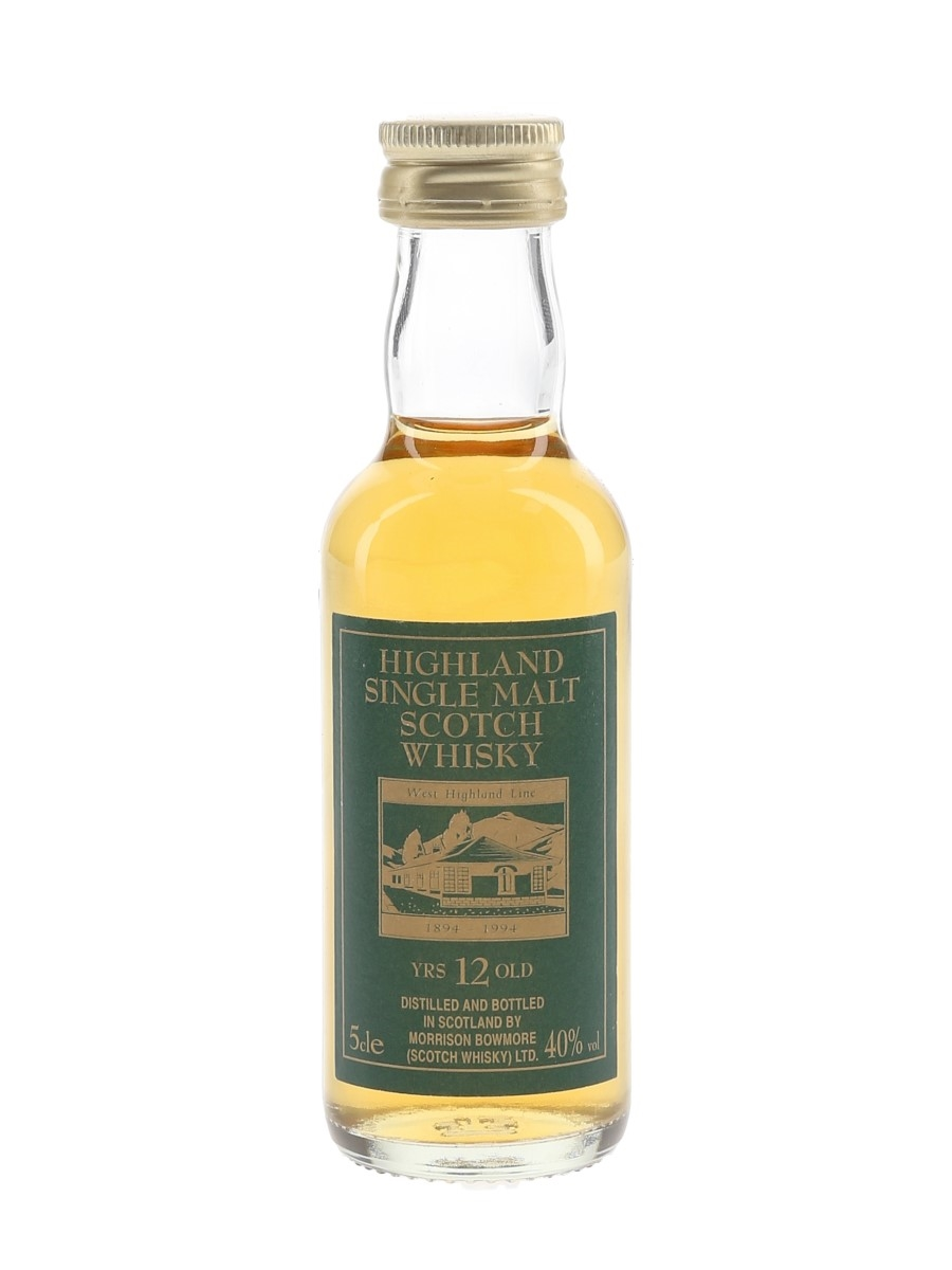 West Highland Line 12 Year Old Morrison Bowmore Ltd 5cl / 40%