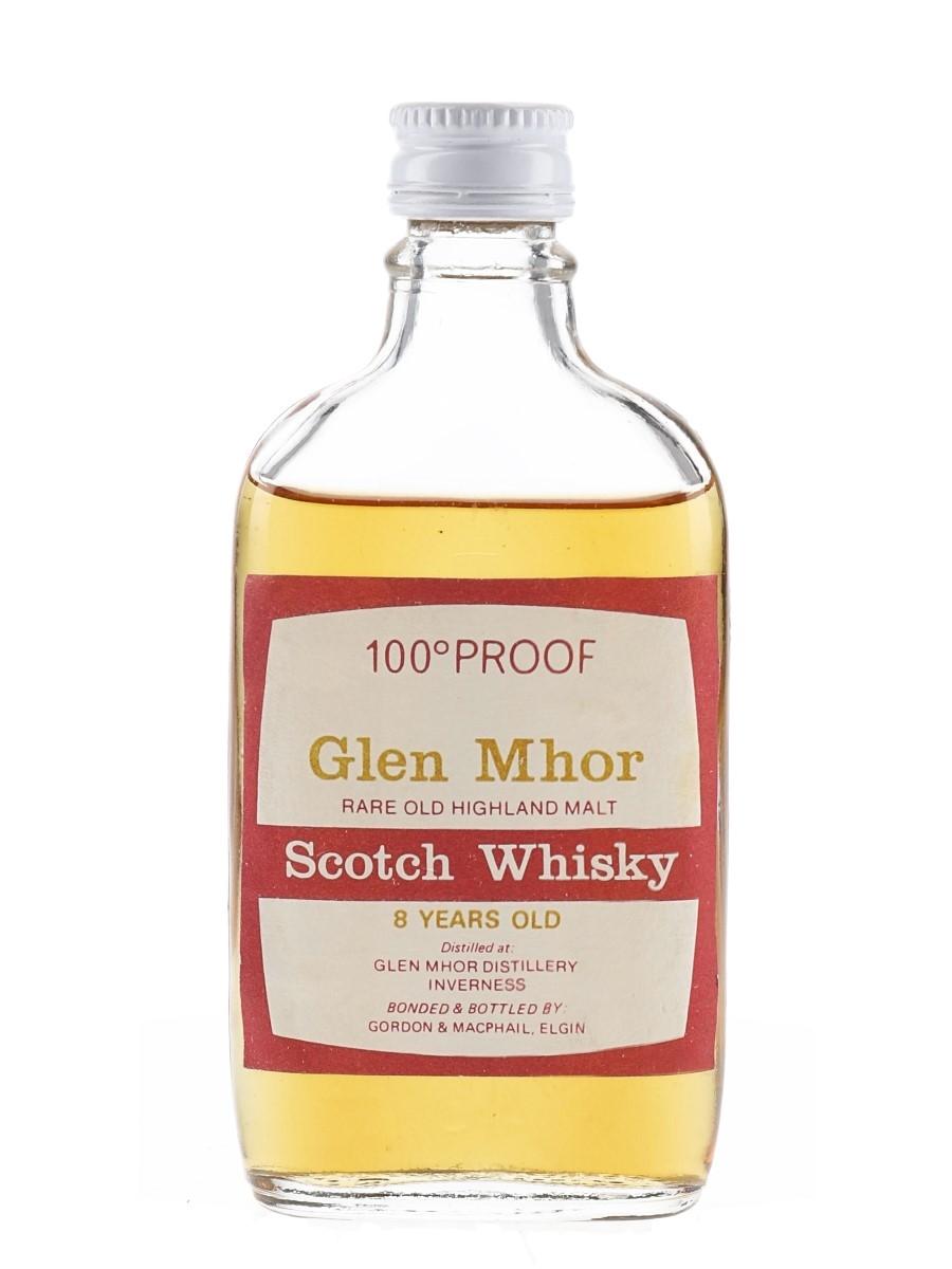 Glen Mhor 8 Year Old 100 Proof Bottled 1970s - Gordon & MacPhail 5cl / 57%