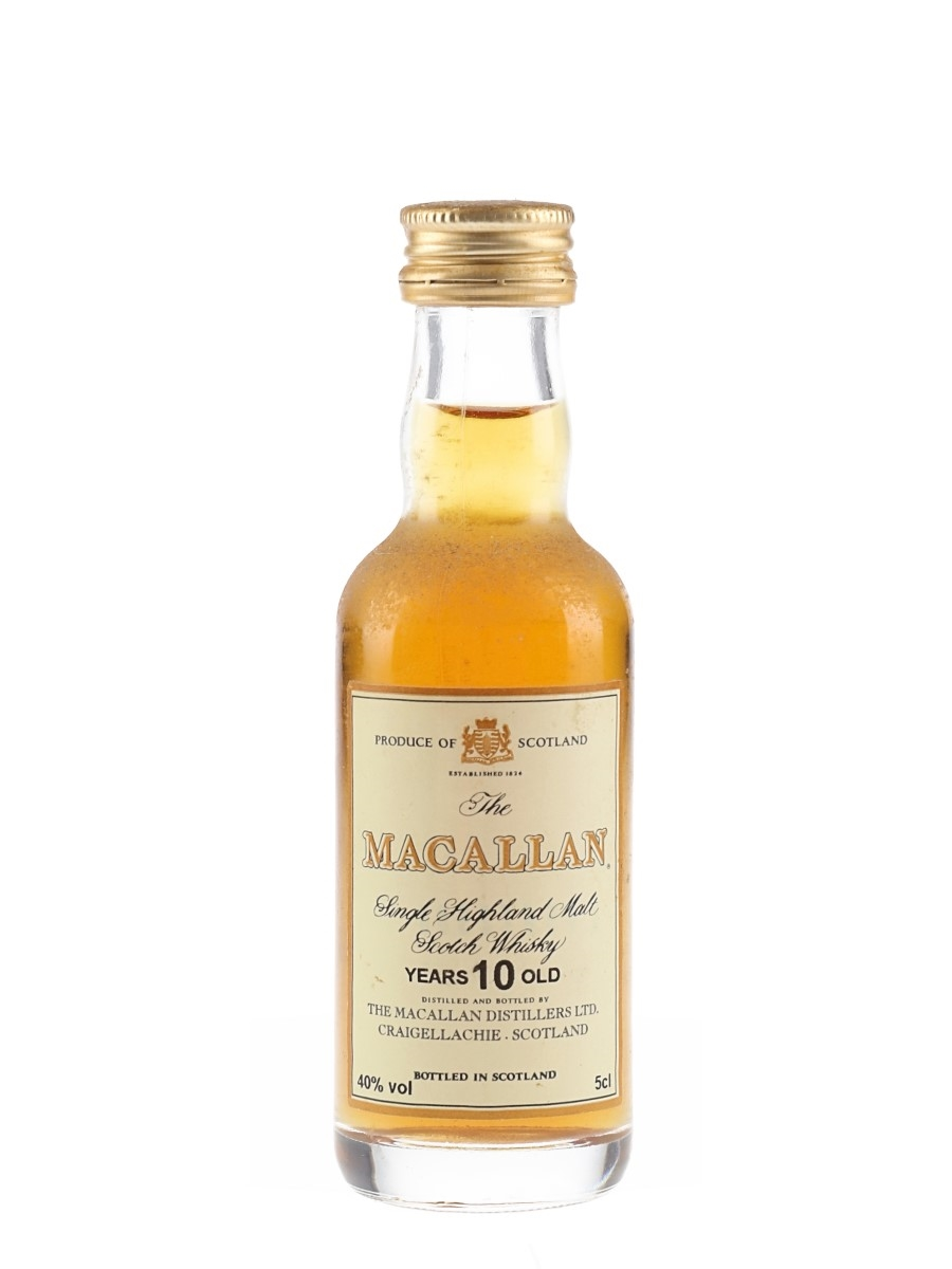 Macallan 10 Year Old Bottled 1990s-2000s 5cl / 40%
