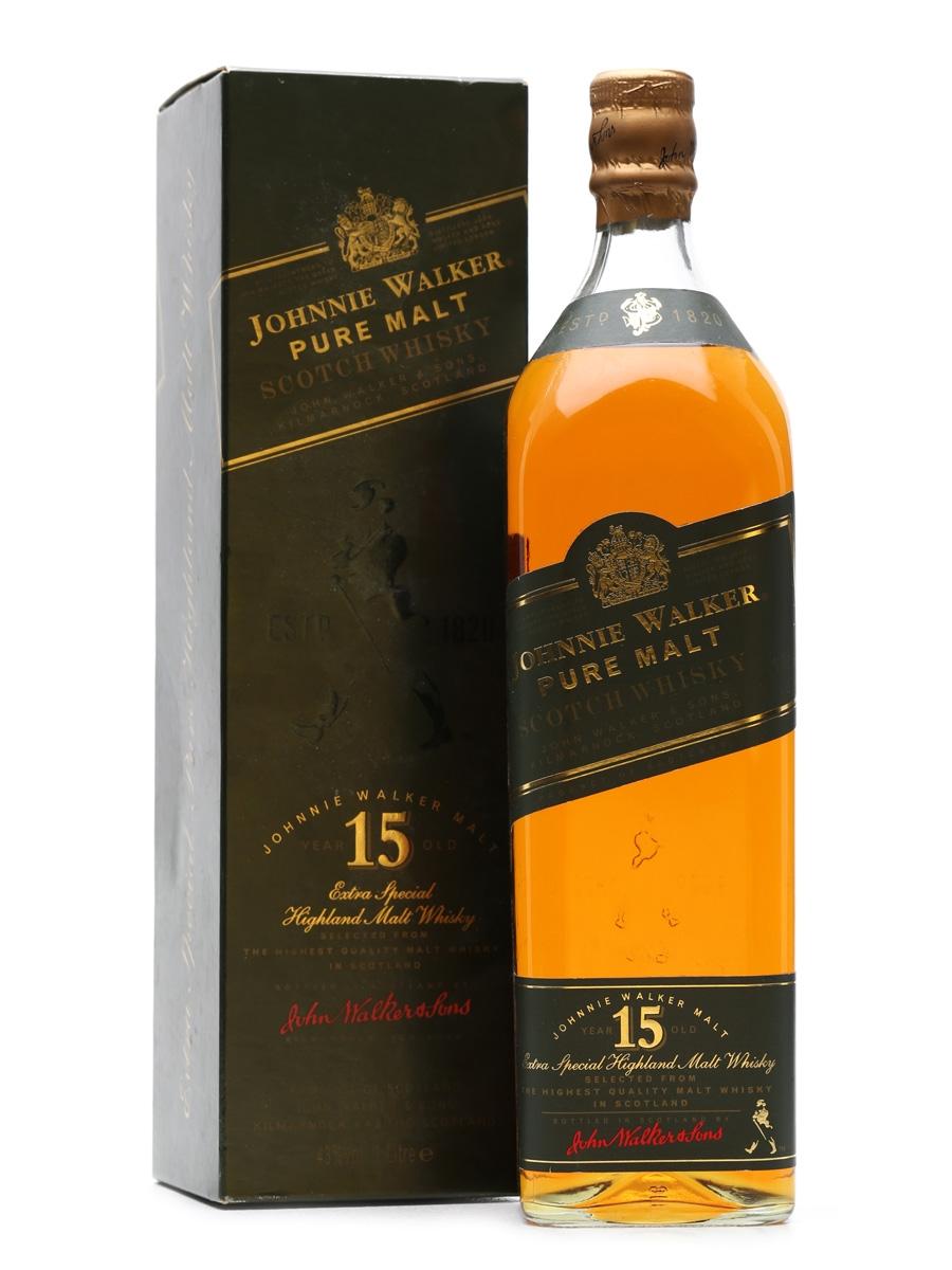 Johnnie Walker 15 Years Old Pure Malt 1 Litre