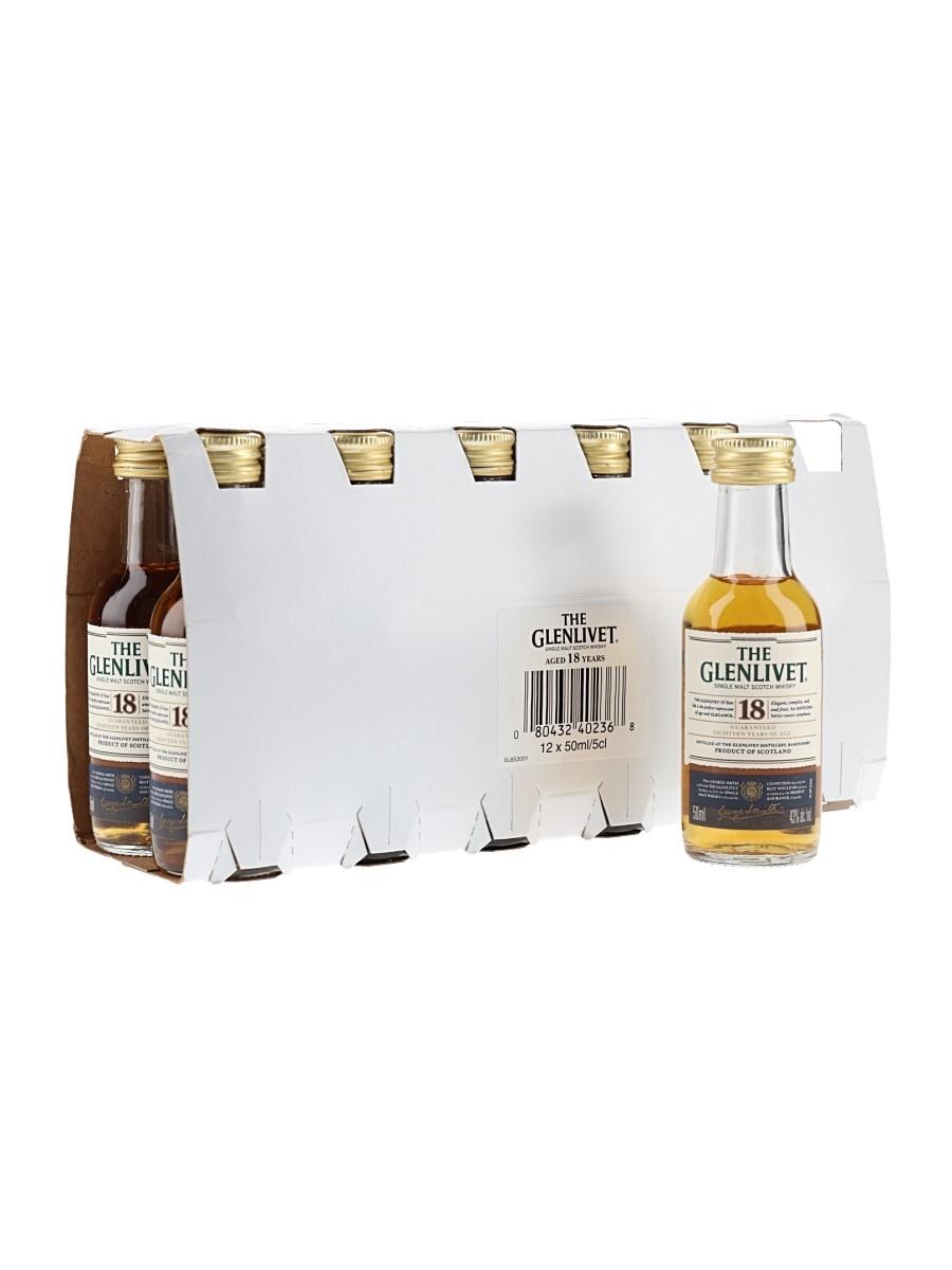 Glenlivet 18 Year Old Bottled 2011 12 x 5cl / 43%