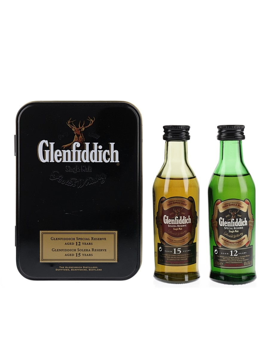 Glenfiddich 12 & 15 Year Old  2 x 5cl / 40%