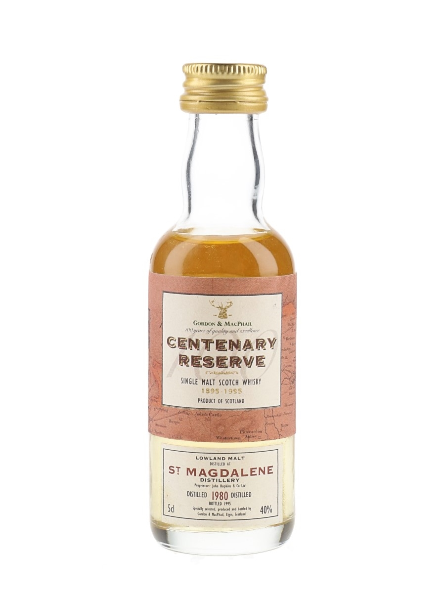 St Magdalene 1980 Centenary Reserve Bottled 1995 - Gordon & MacPhail 5cl / 40%