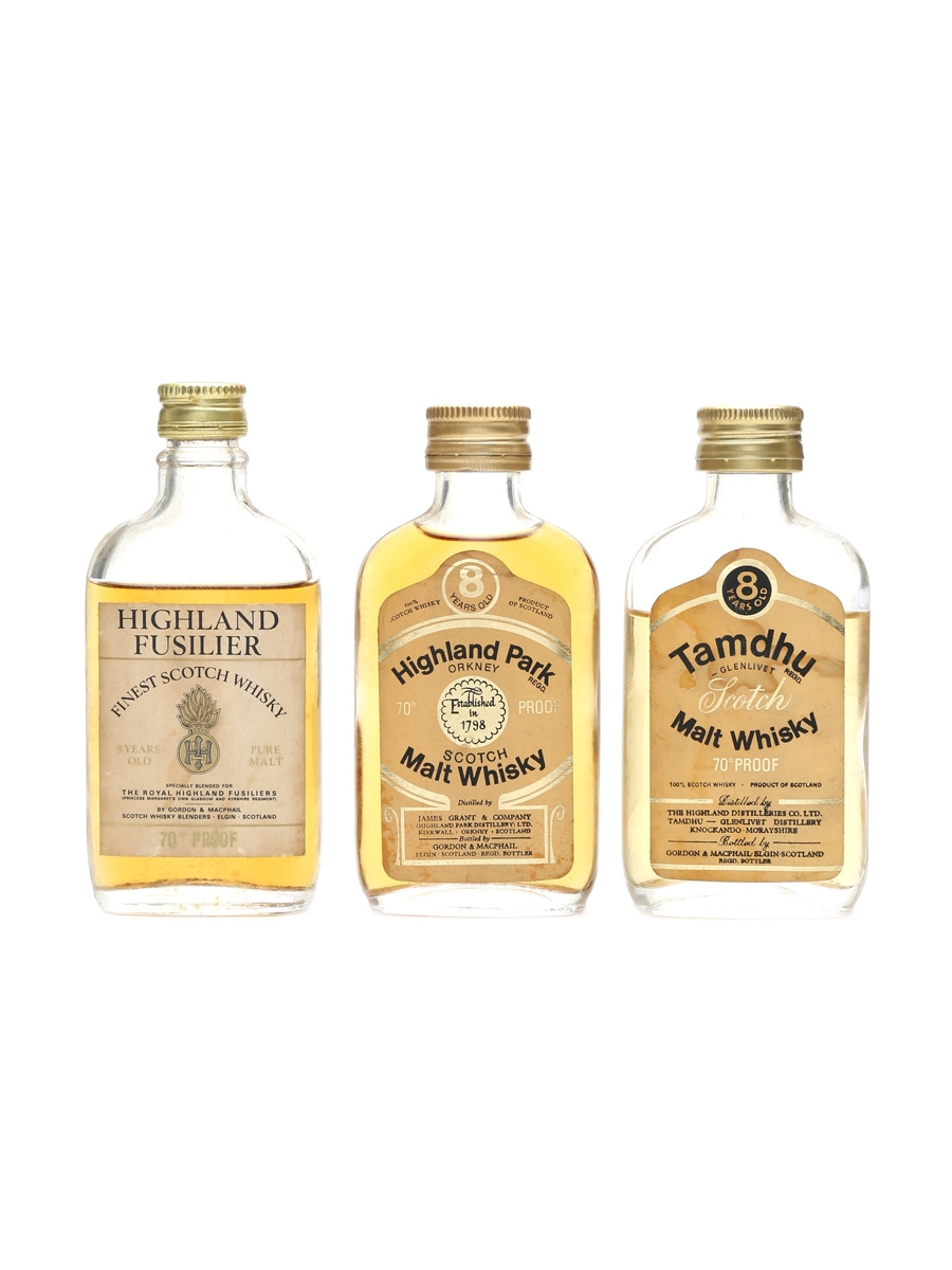 Assorted 70 Proof Scotch Whisky Incl. Highland Park 8 Year Old 3 x 5cl