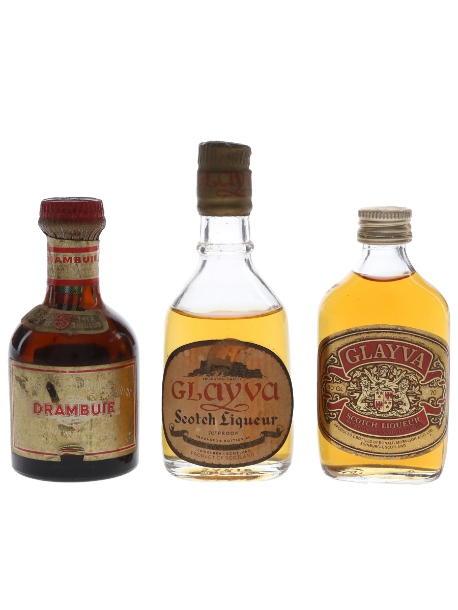 Drambuie & Glayva Bottled 1960s-1970s 3 x 5cl / 40%