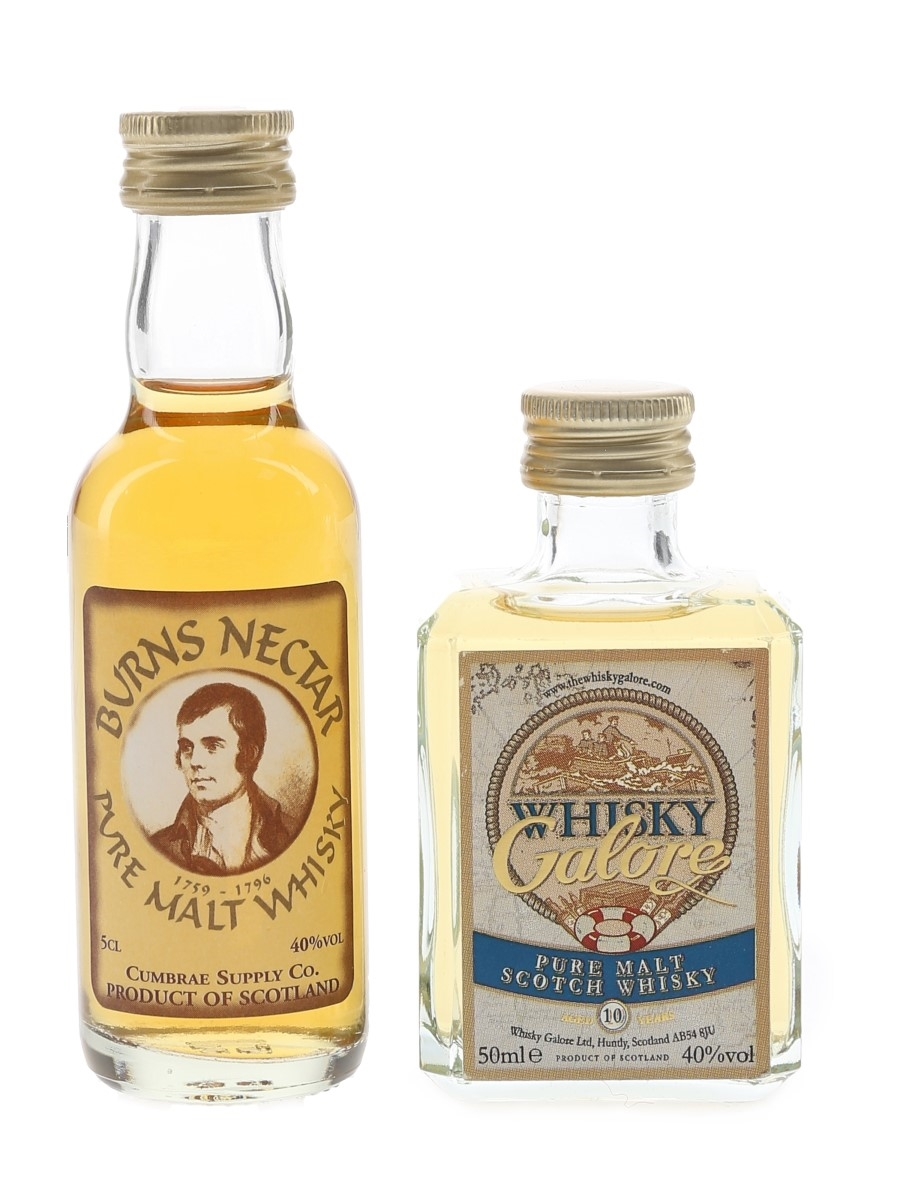 Burns Nectar & Whisky Galore  5cl / 40% ABV