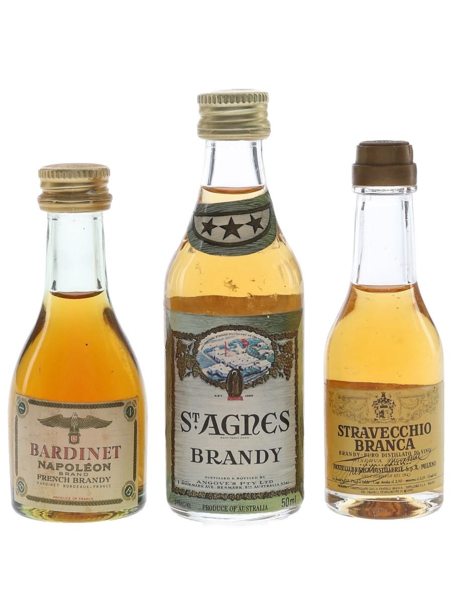 Bardinet, St Agnes & Stravecchio Branca  3 x 2.5cl-5cl