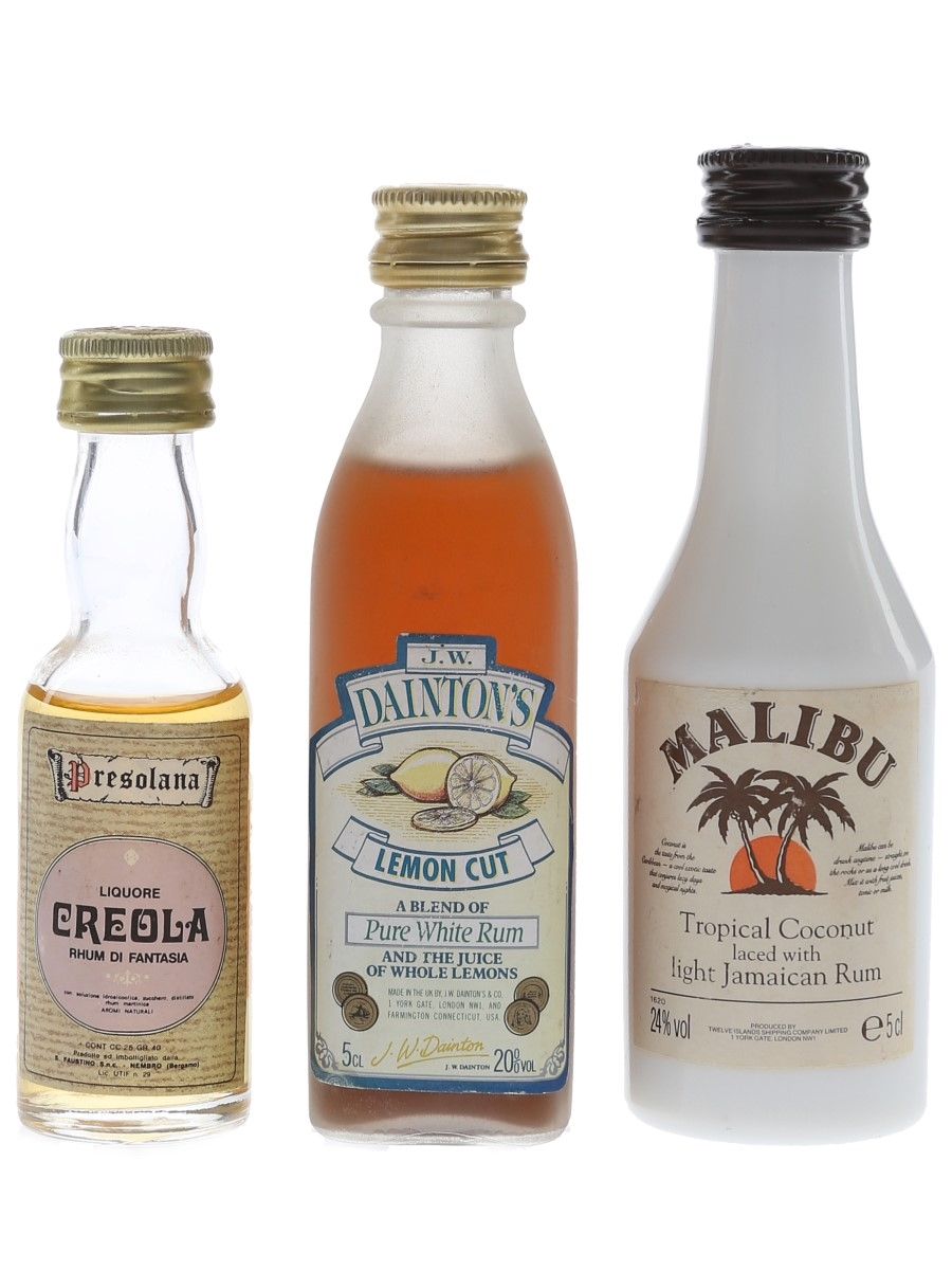 Faustino, Malibu & JW Dainton's Liqueurs  3 x 2.5cl-5cl