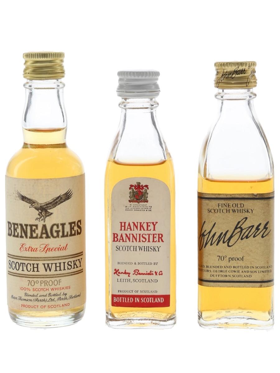 Beneagles, Hankey Bannister & John Barr Bottled 1970s 3 x 5cl