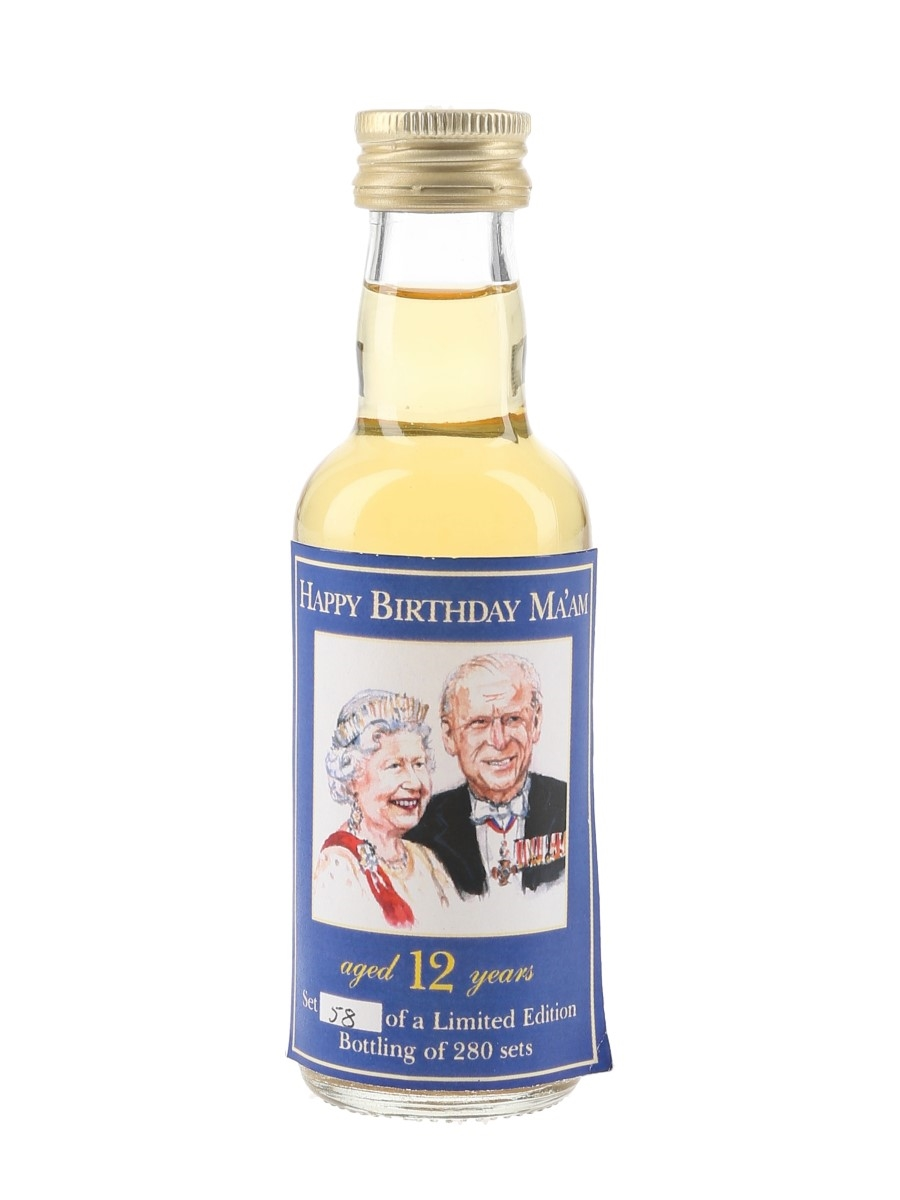 Happy Birthday Ma'am 12 Year Old - The Whisky Connoisseur 5cl / 40%