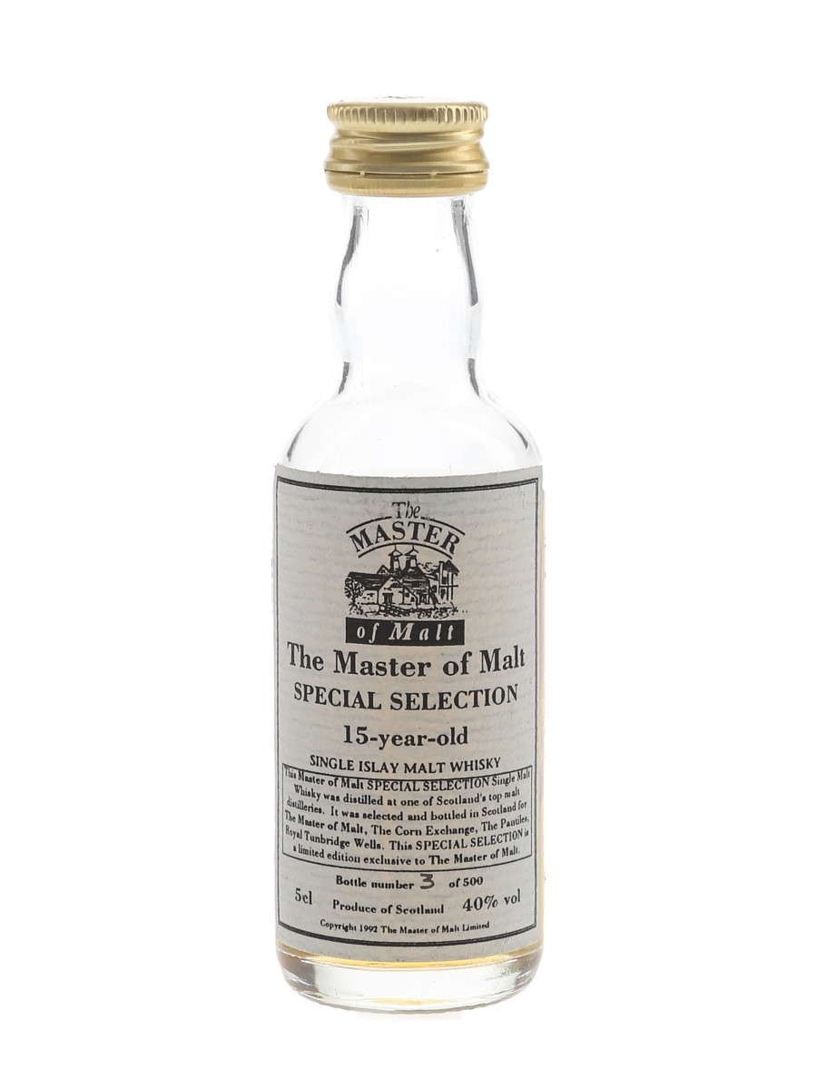 Master Of Malt 15 Year Old Special Selection Single Islay Malt Whisky 5cl / 40%
