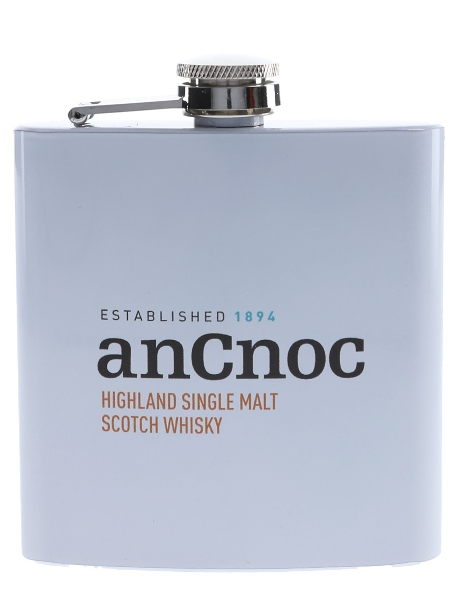 AnCnoc Hip Flask 125th Anniversary Of Knockdhu Distillery
