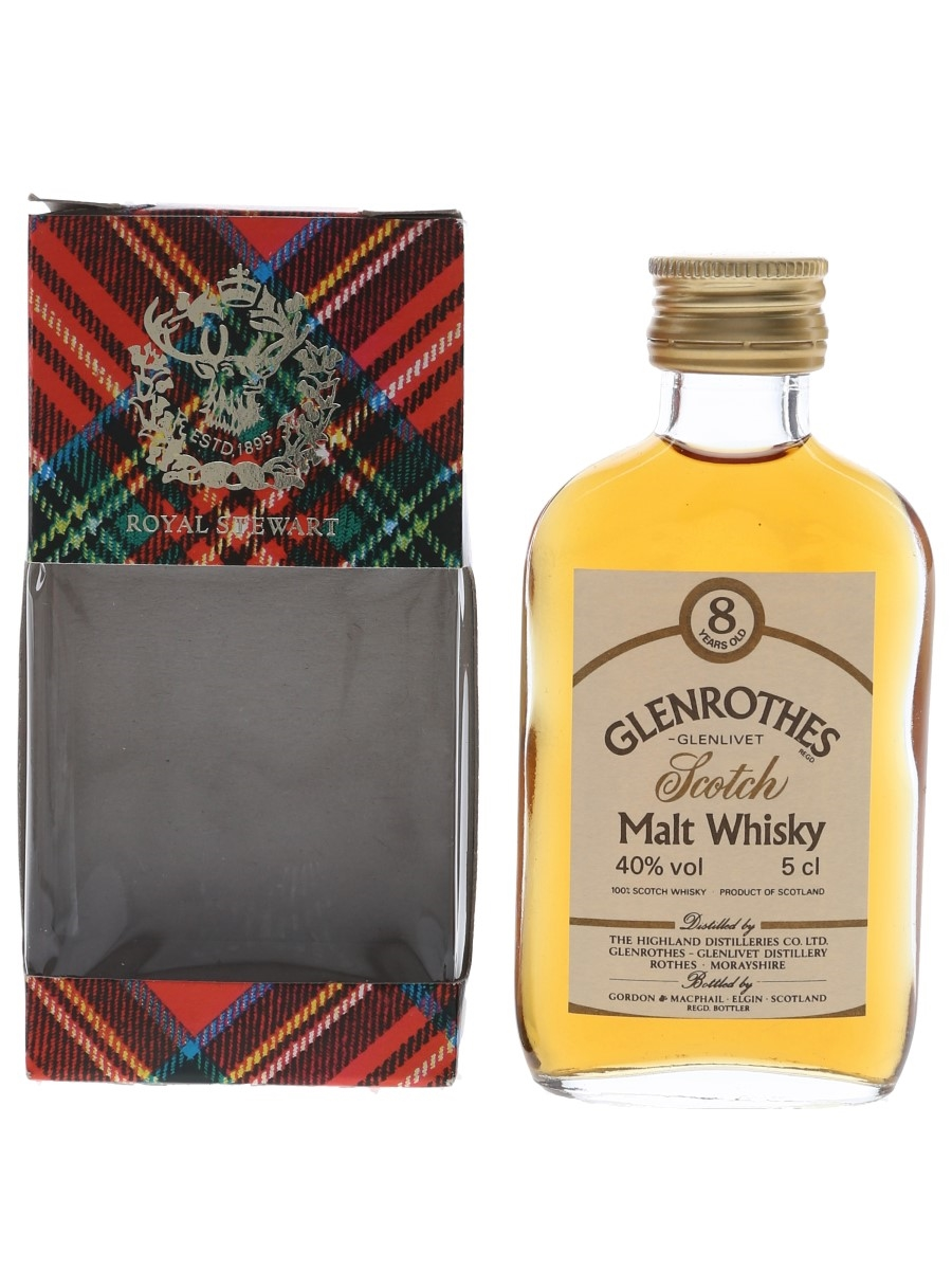 Glenrothes Glenlivet 8 Year Old Bottled 1980s - Gordon & MacPhail 5cl / 40%