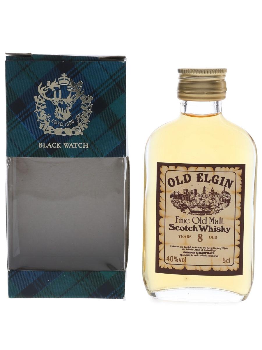 Old Elgin 8 Year Old Bottled 1980s-1990s - Gordon & MacPhail 5cl / 40%
