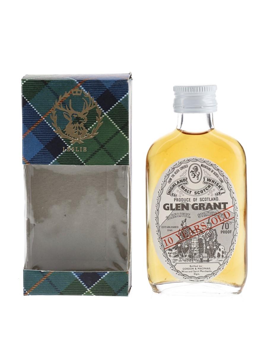 Glen Grant 10 Year Old Bottled 1970s - Gordon & MacPhail 5cl / 40%