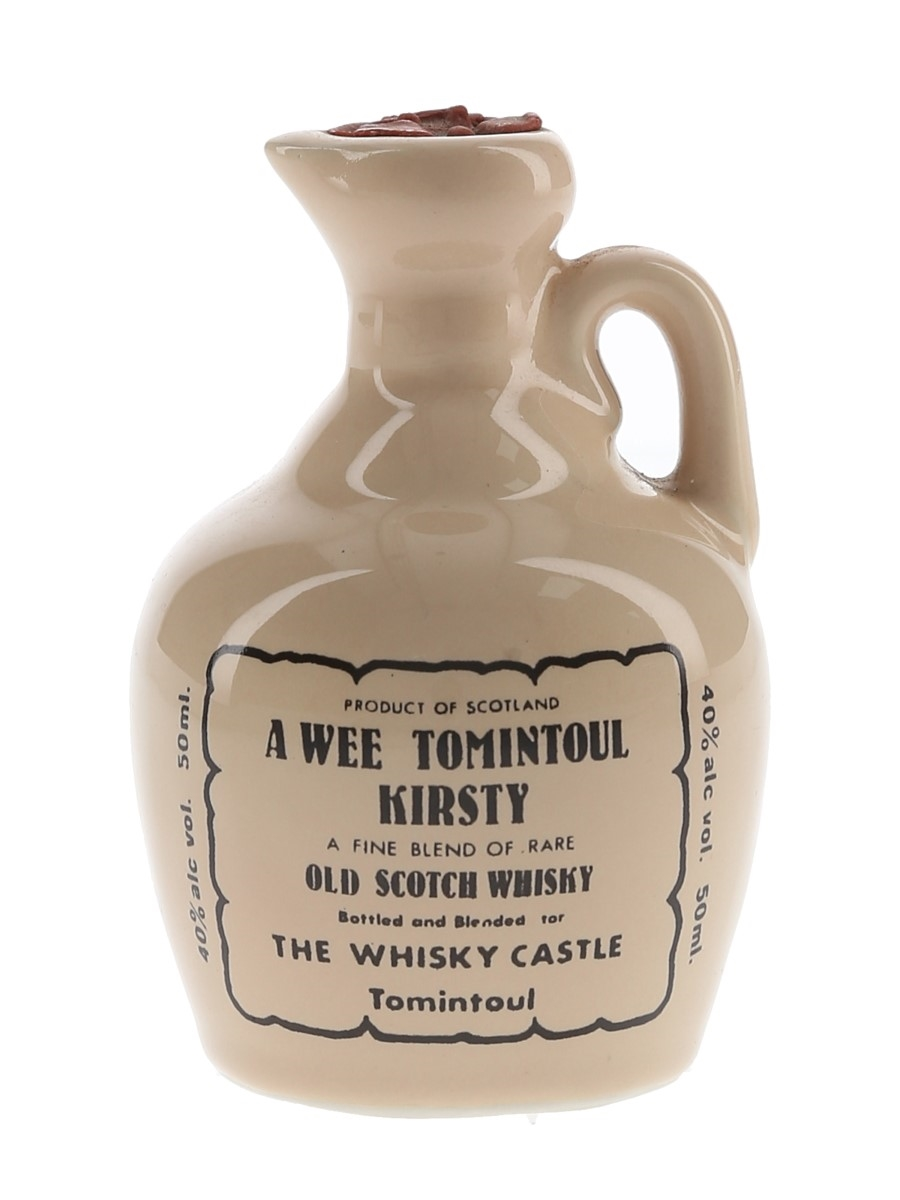 A Wee Tomintoul Kirsty Ceramic Decanter Bottled 1980s - The Whisky Castle 5cl / 40%