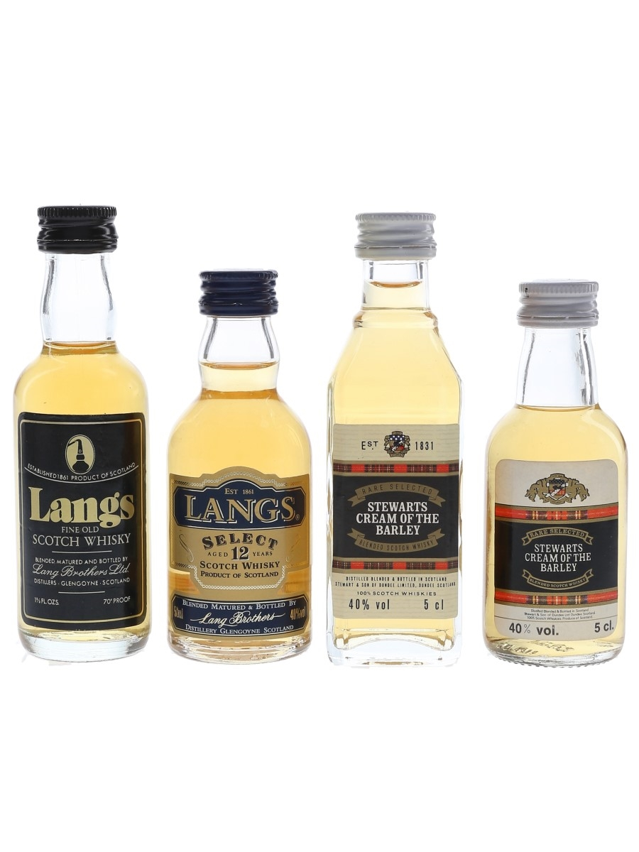 Lang's & Stewarts Cream Of The Barley  4 x 4.7cl-5cl / 40%
