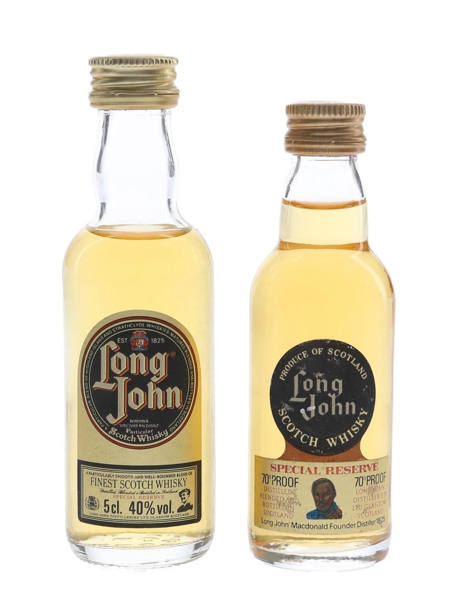 Long John Bottled 1970s & 1980s 2 x 5cl / 40%