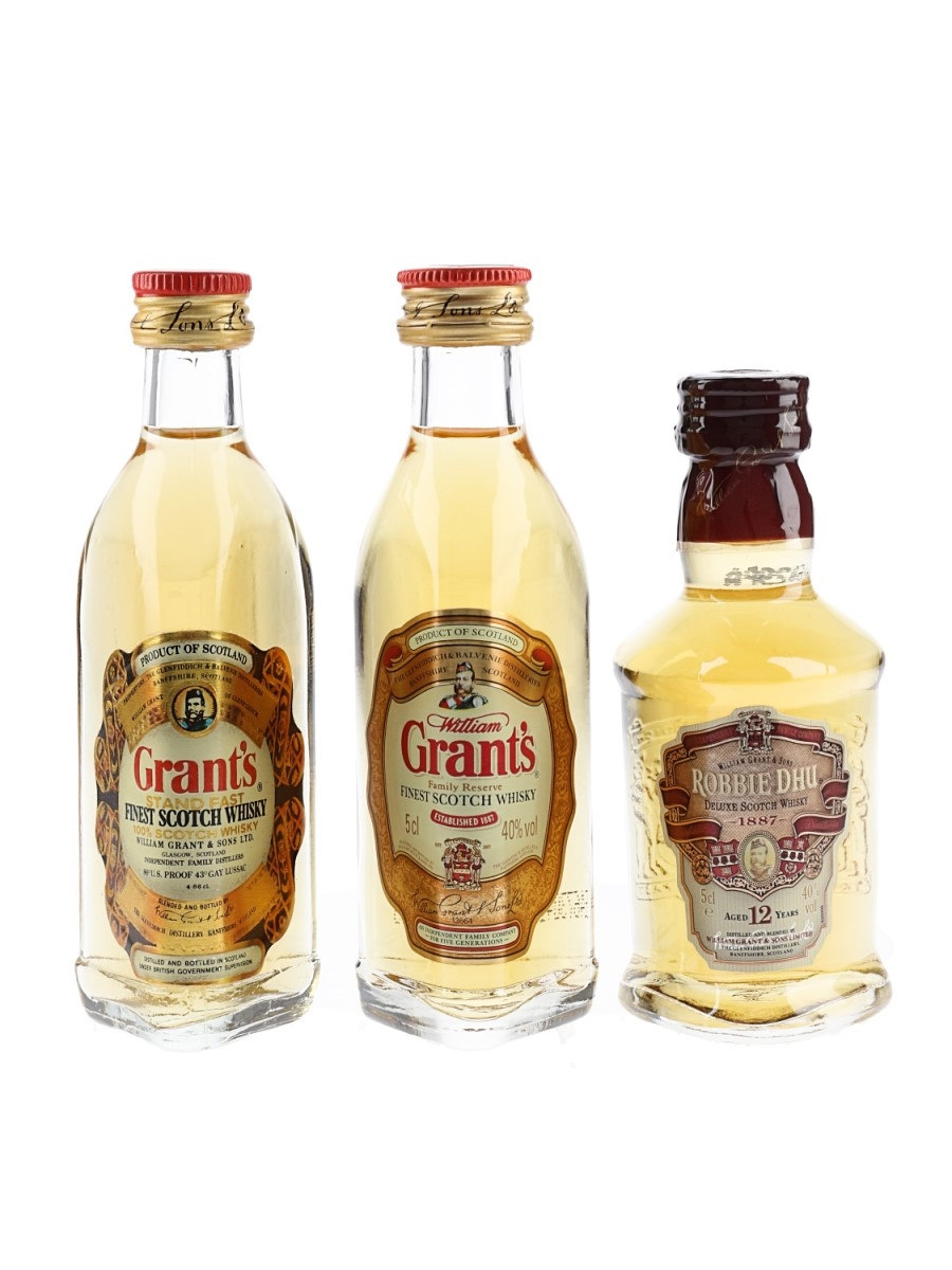 Grant's Family Reserve, Grant's Standfast & Robbie Dhu William Grant 3 x 4.68cl-5cl