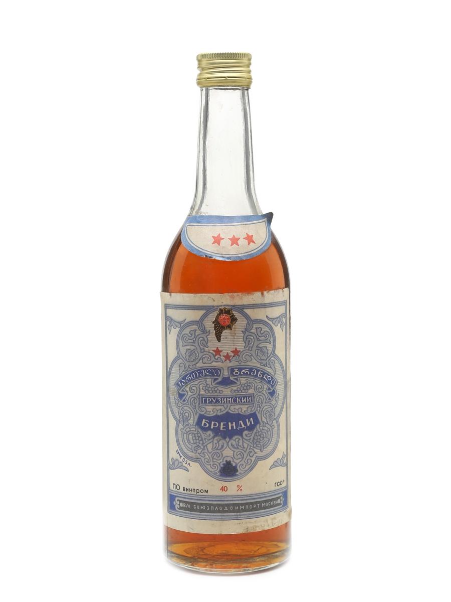 Georgian 3 Star Brandy  50cl