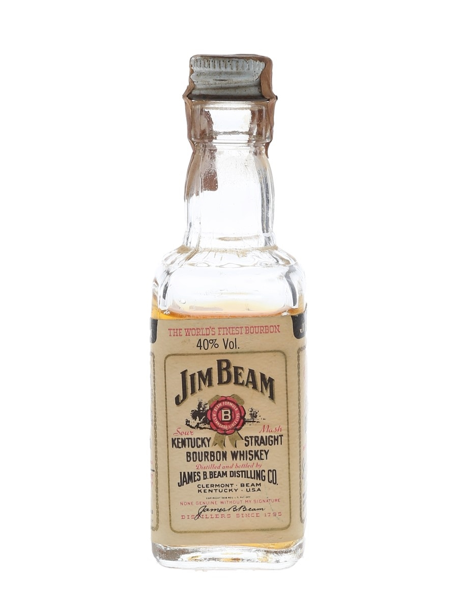 Jim Beam 4 Year Old Bottled 1980s 5cl / 40%