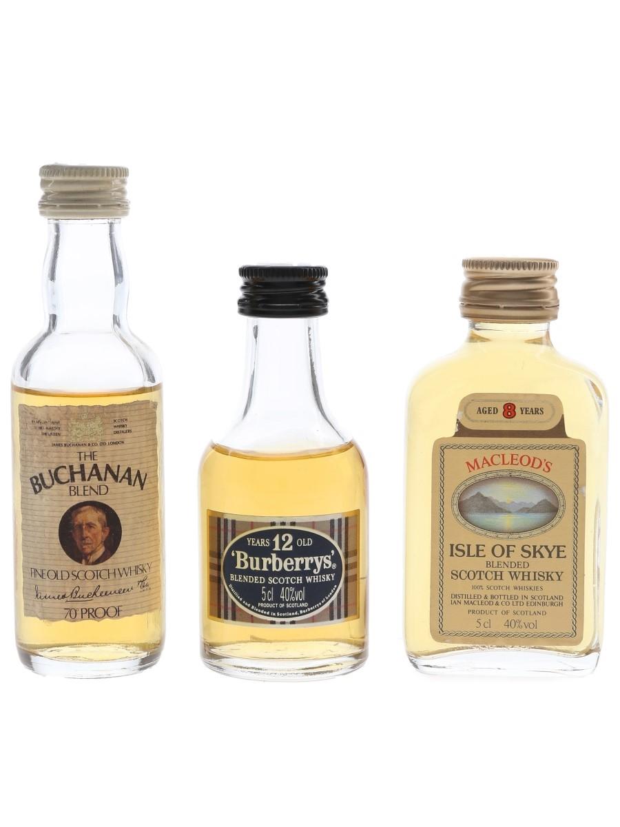 Buchanan, Burberrys & Macleod's  3 x 5cl / 40%