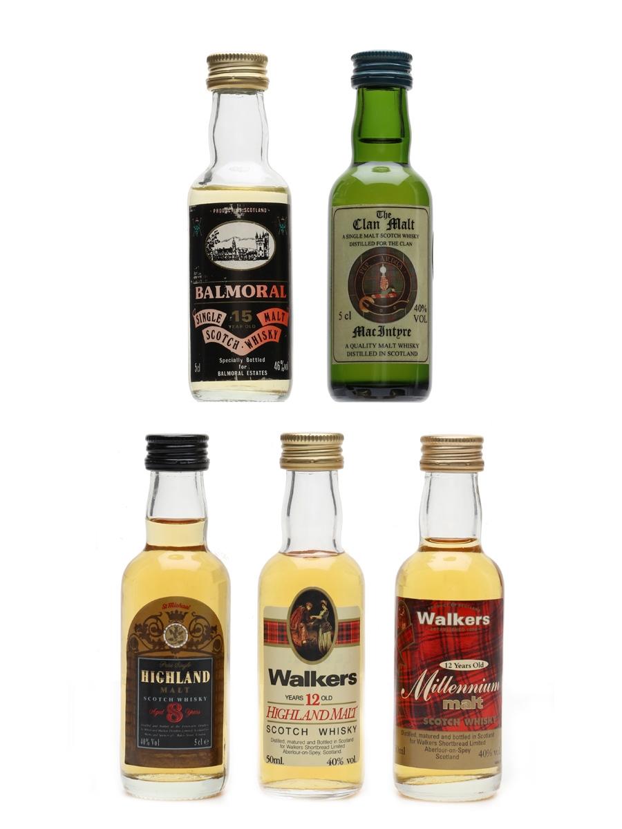 Assorted Single Malt Whisky  5 x 5cl