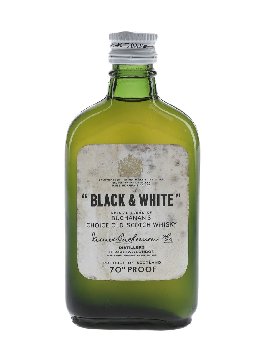 Buchanan's Black & White Bottled 1970s 5cl / 40%