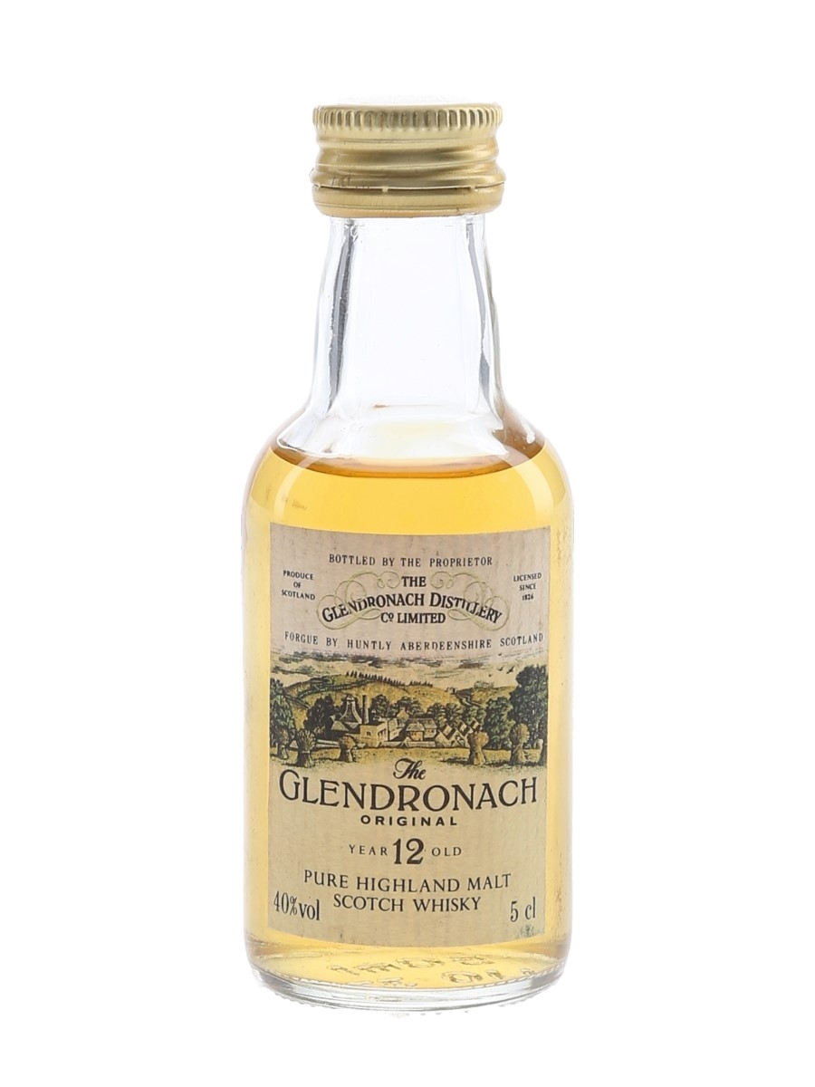 Glendronach 12 Year Old Original Bottled 1980s 5cl / 40%