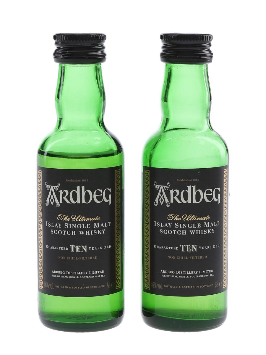 Ardbeg 10 Year Old Bottled 2017 2 x 5cl / 46%