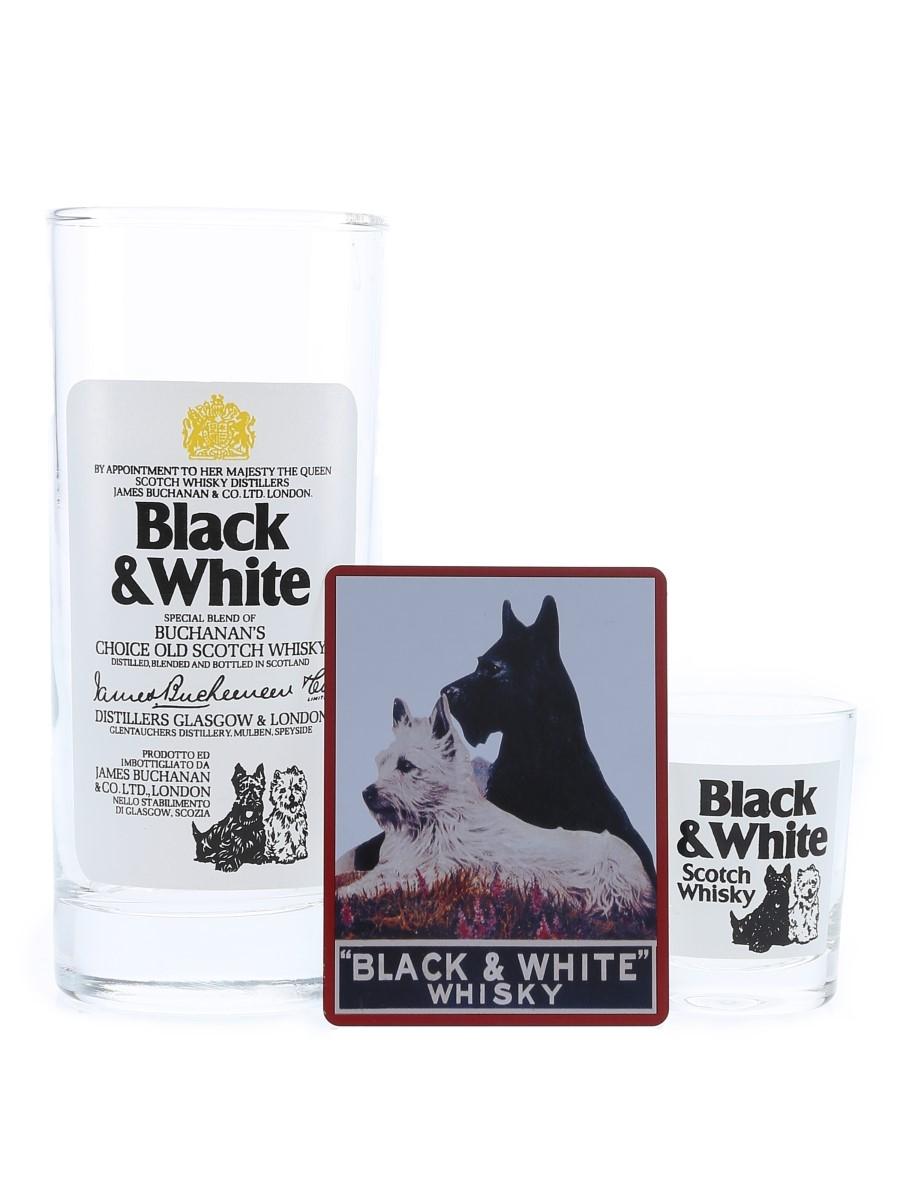 Buchanan's Black & White Fridge Magnet, Hi Ball & hot Glass