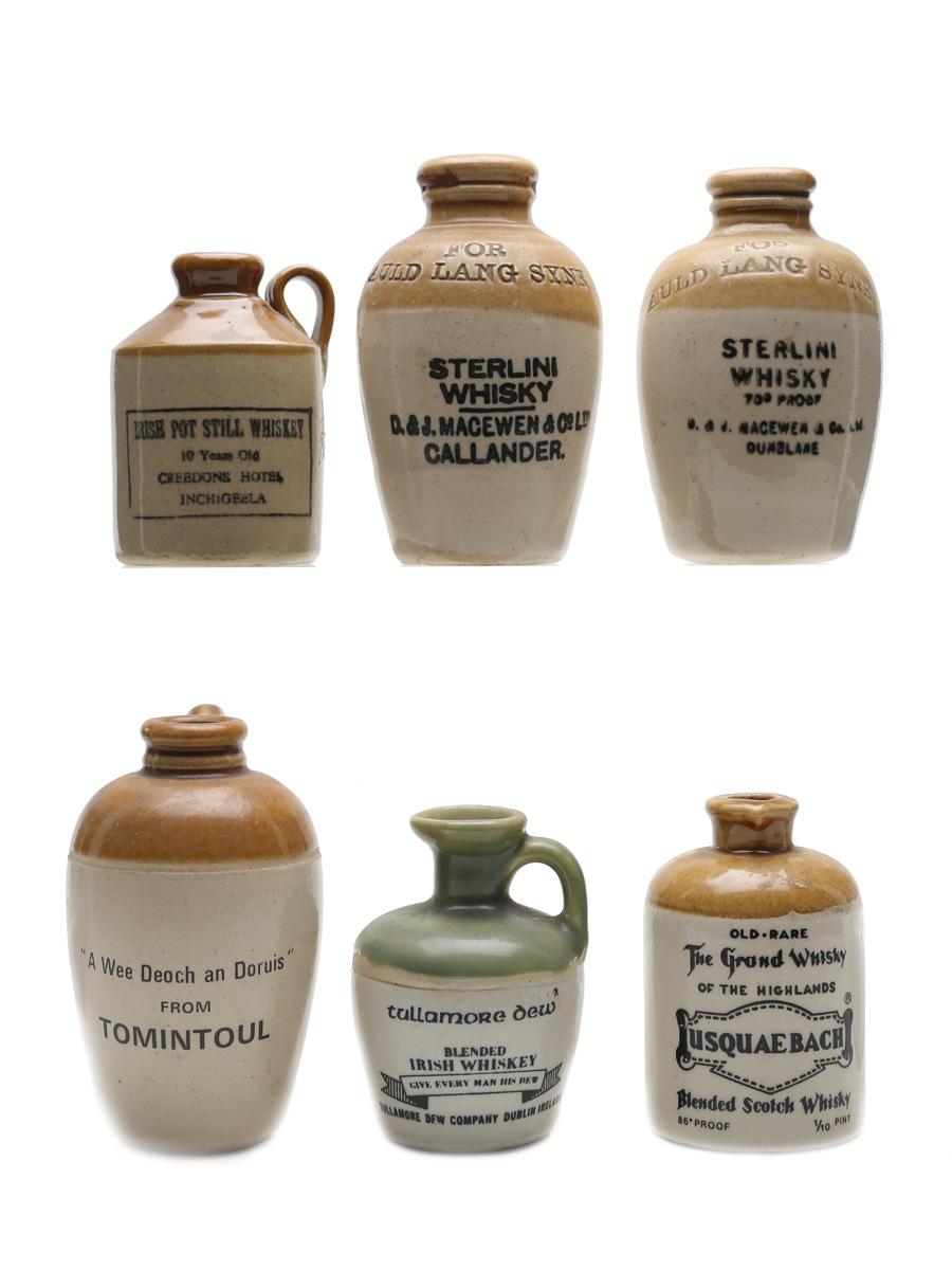 Assorted Whisky Ceramics  6 x 5cl