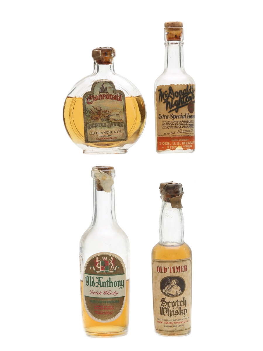 Assorted Blended Scotch Whisky Bottled 1950s 7.5cl, 10cl & 2 x 5cl
