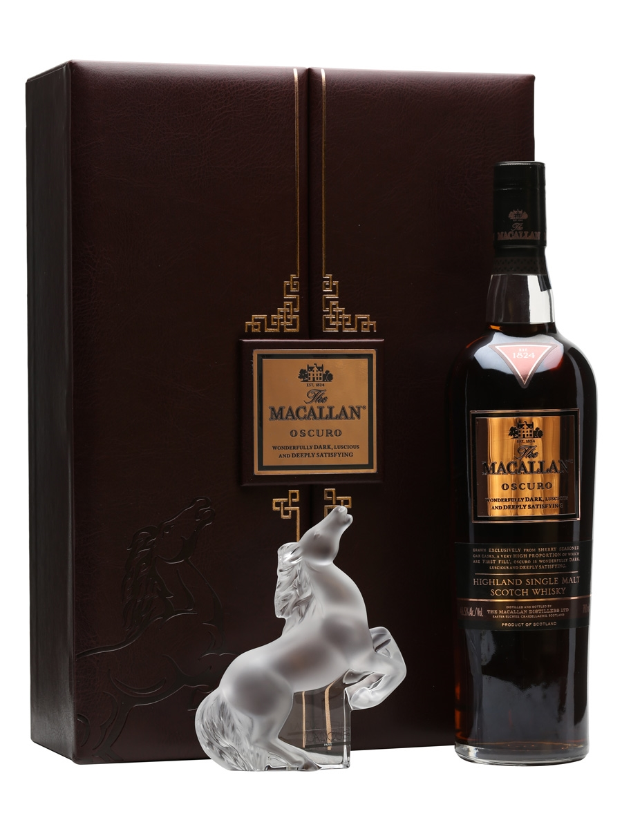 Macallan Oscuro Lalique Rearing Kazak Horse 70cl
