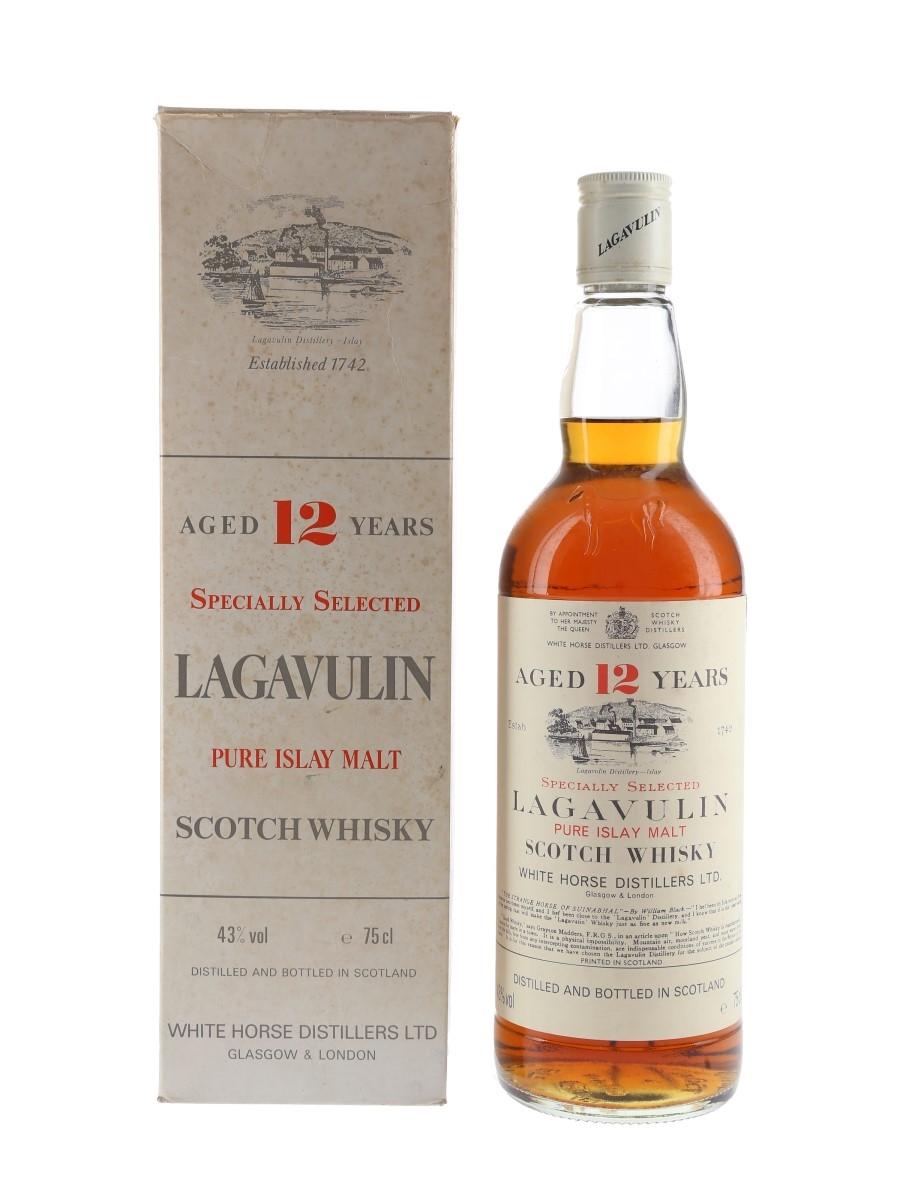 Lagavulin 12 Year Old Bottled 1980s - White Horse Distillers 75cl / 43%
