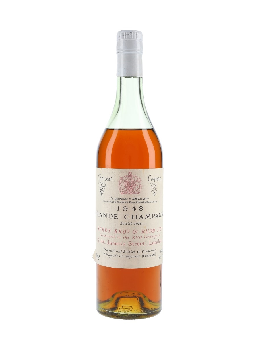 Frapin 1948 Grande Champagne Cognac Bottled 1976 - Berry Bros & Rudd 68cl / 40.5%