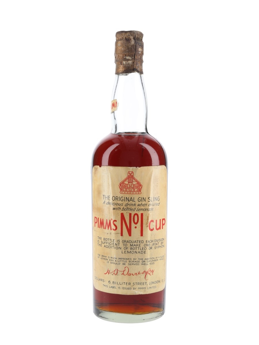 Pimm's No.1 Cup Bottled 1940s 75cl / 34%