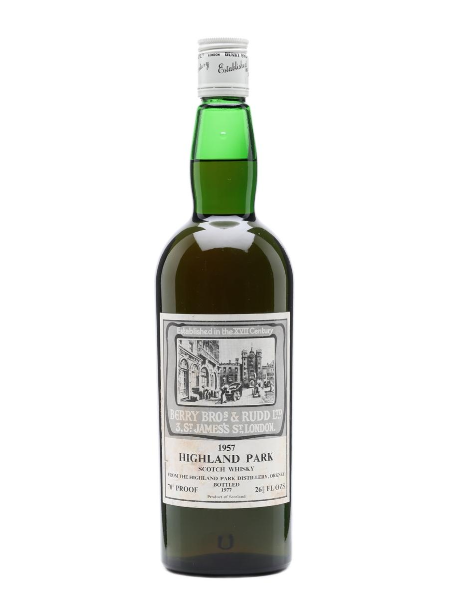 Highland Park 1957 Berry Bros & Rudd Bottled 1977 75cl