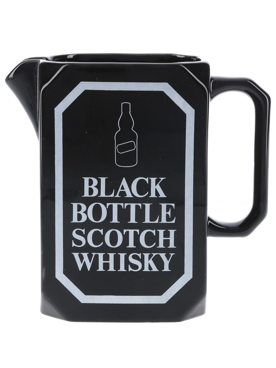 Black Bottle Water Jug Wade PDM 14cm Tall